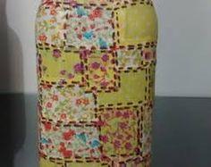 garrafas decoradas com tecidos - Pesquisa Google