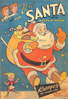 Cover for Katy and Ken Visit Santa with Mister Wish (S.S. Kresge Co., 1948 series)