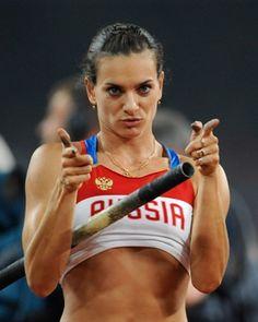 #10. Yelena Isinbayeva. Ha batido 27 veces el WR de salto de altura