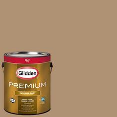 Glidden Premium 1-gal. #HDGWN20D Hot Mustard Seed Flat Latex Exterior Paint
