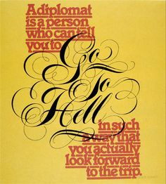 Go to Hell, Tom Carnase and Herb Lubalin