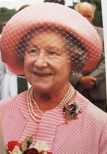 The Queen Mother in pink