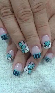 Nail Arts, Cute Nails, Nail Designs, Fancy, How To Make, Acrylics, Beauty, Girls, Nails