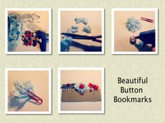 Button Bookmarks DIY