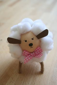 easter egg lamb craft + 30 cute lamb and sheep crafts from red ted art Sheep Crafts, Farm Crafts, Bunny Crafts, Easter Lamb, Easter Eggs, Easter Table, Easter Party, Spring Crafts, Holiday Crafts