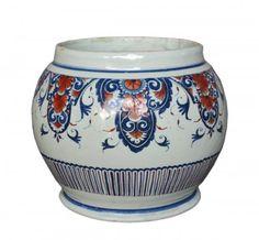 Petit pot en faïence de Rouen, XVIIIe siècle
