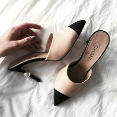 706312dd4de Shoe of the Month  Chanel pearl mules (5 inch and up)