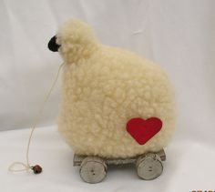 Hey, I found this really awesome Etsy listing at https://www.etsy.com/listing/246888644/primitivefolk-art-handmade-sheep-on