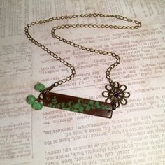 Belle Lucite Necklace featuring Lily of the Valley by GemJelly