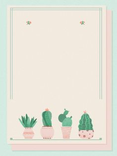 Graphic Wallpaper, Pastel Wallpaper, Iphone Wallpaper, Instagram Background, Instagram Frame, Paper Cactus, Cactus Cactus, Cactus Decor, Small Pink Flowers