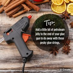 Handy Glue Gun Trick from @ucreatecrafts. Will have to try this out!