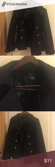 Black pea coat Black pea coat , from forever 21 store. Used , good condition . Jackets & Coats Pea Coats