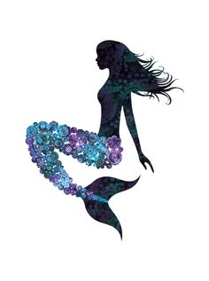 Lovely mermaid - the tail looks like Spirograph art Real Mermaids, Mermaids And Mermen, Mythical Creatures, Sea Creatures, Spirograph Art, Mermaid Fairy, Mermaid Pics, Mermaid Tattoos, Merfolk