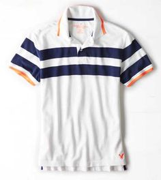 AEO Striped Polo