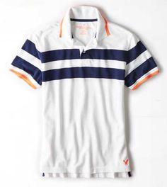 AEO Striped Polo