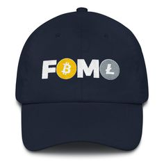 df14b06af73cf Items similar to FOMO Bitcoin Litecoin Trader Cap Crypto Dad Hat Fear  Missing Out Gift Cryptocurrency Logo on Etsy