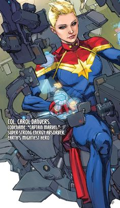 """Captain Marvel in Ultimates v2 #1 """"Start With the Impossible"""" (2015) - Kenneth Rocafort, Colors: Dan Brown"""