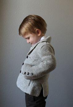 Pdf knitting pattern for boy's garter stitch jacket by NeverNotKnitting