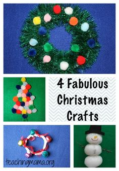 Try these homemade Christmas crafts for kids this Holiday!