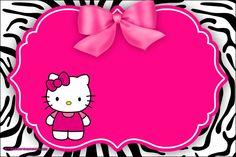Hello Kitty Invitation Card, Hello Kitty Birthday Invitations, Printable Birthday Invitations, Hello Kitty Backgrounds, Hello Kitty Wallpaper, Kawaii Wallpaper, Hello Kitty Drawing, Hello Kitty Art, Birthday Tarpaulin Design