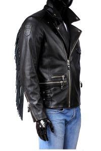 Ramoneska Skórzana Męska z frędzlami DORJAN CM GRA950 Leather Jacket, Model, Jackets, Fashion, Fotografia, Studded Leather Jacket, Down Jackets, Moda, Leather Jackets