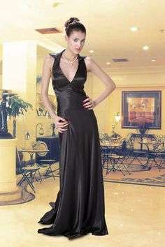 The beautiful black gown - sent by @Jeannie Sigafoos