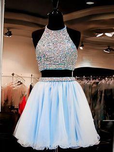 A-line+Scoop+Short/Mini+Chiffon+Cocktail+Dresses/Short+Prom+Dress#+ZP251