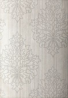 Lynn Chalk - Schumacher Beaded Damask Wallpaper Zinc, $99.21 (http://store.lynnchalk.com/schumacher-beaded-damask-wallpaper-zinc/)