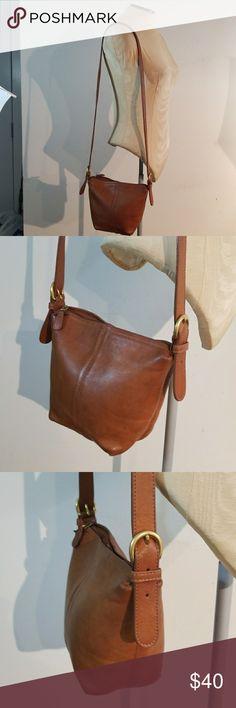 COACH WOMEN'S LEATHER CROSSBODY BAG BROWN Authentic genuine leather CROSSBODY COACH BAG No 1751-390 Coach Bags Crossbody Bags