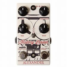 "By @alexanderpedals ""Now available exclusively at @chicagomusicexchange. #historylesson #greattonesdoinggood"""