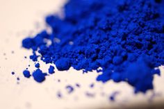International Klein Blue - engineered to maintain the luminosity of wet paint, even when dry!     Seriously, so cool.