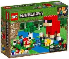 Enjoy hands-on Minecraft action with this LEGO 21153 Minecraft The Wool Farm. It can also be combined with other sets to create a unique LEGO Minecraft universe for both play and display! Lego Minecraft, Minecraft Sheep, Lego Duplo, Lego Ninjago, Lego Disney, Lego Sets, Legos, Lego Poster, Farmhouse