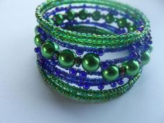 Wrap bracelets - Jewelry creation by Jewelryonthego Wrap Bracelets, Bangles, Beaded Bracelets, Beading Ideas, Beaded Jewelry, Jewelry Making, Jewels, Beads, Bracelets