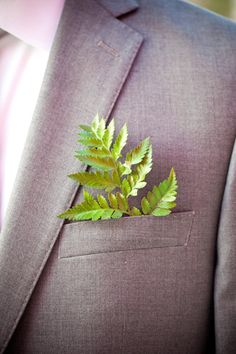 """Fern in suit pocket as """"boutonniere."""" Photography by figlewiczphoto.com, Photography by hbdphotography.com"""