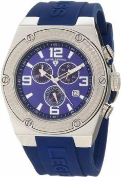 Swiss Legend Men's 30025-03 Throttle Chronograph Blue Dial Watch Swiss Legend. $79.99. Save 90%!
