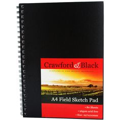 Crawford and Black A4 Field Sketch Pads - Pack Of 6 | Sketchpads at The Works