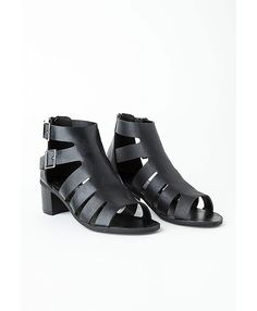 Chelo Cut Out Sandals in Black ($45)