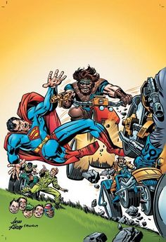 Jack Kirby Superman and the Outsiders led by Jimmy Olsen