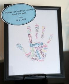 Super cute idea for a parent volunteer. SO cheap and easy! Also a great end of the year student gift.
