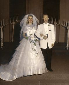 1958 wedding of Rosalyn and Ron.