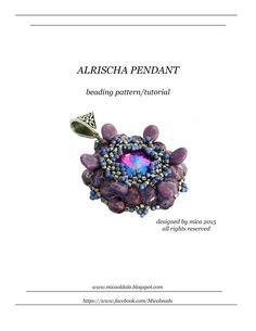 Alrischa Pendant  Beading Pattern/Tutorial  PDF file by micabead