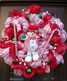 Christmas Deco Mesh Wreath Christmas Wreath