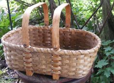 The low shopper basket, my fave. Very sturdy and useful. Weaving kits available at The Country Seat in Kempton, Pa