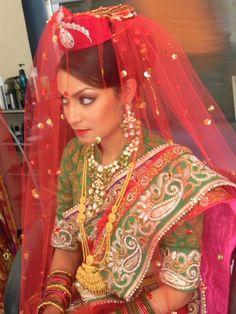 Nepali Bride...Pic shared from Arden The Beauty Point!!