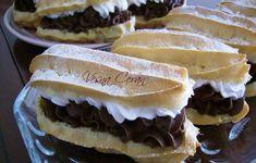 Ekleri dvobojni kremasti kolači - Kuhinja i Recepti Great Desserts, No Bake Desserts, Dessert Recipes, Czech Recipes, Ethnic Recipes, Eclairs, Nutella, Sweet Recipes, Pina Colada