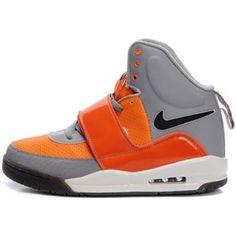 Mens Air Yeezy Shoes Grey Orange Glow In The Dark
