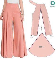 Fashion Sewing, Diy Fashion, Fashion Outfits, Diy Clothing, Sewing Clothes, Dress Sewing Patterns, Clothing Patterns, Pants Pattern, Pattern Fashion