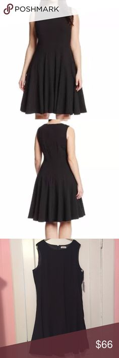 NWT Calvin Klein Black Pleated A Line Dress NWT Calvin Klein Black Sleeveless Pleated A-Line Dress. PLEASE BE AWARE: It has the sensor on the inside of the dress but it's not noticeable at all! Calvin Klein Dresses
