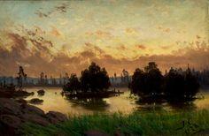 "the-paintrist:  "" huariqueje:  "" Evening Red - Fanny Maria Churberg , 1878  Finnish, 1845–1892  oil on canvas, 33 x 50 cm. (13 x 19.7 in.)  ""  Fanny Churberg (12 December 1845 Vaasa – 10 May 1892 Helsinki) was a Finnish landscape painter.  """