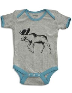 Seeing a picture of baby with grandpa the moose hunter - Wild And Cozy by Hatley - Newborn And Infant Boys Short Sleeve One Piece Bodysuit